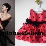 vestido moranguinho baby