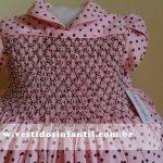vestidos marrom e rosa para meninas