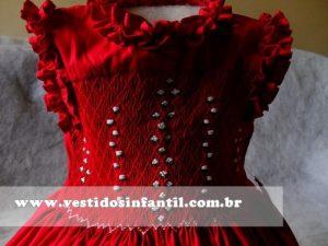 vestidos para meninas vermelho