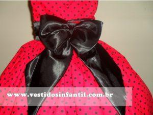lindo vestido vermelho para menina