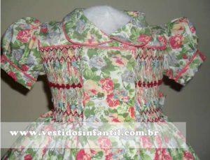 vestidos para meninas floral
