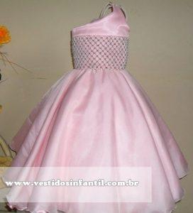 lindo vestido rosa com bordado infantil