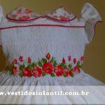 vestidos para meninas com bordado