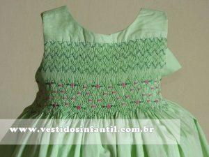 vestidos para meninas verde