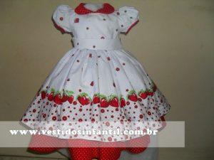 moranguinho vestidos para meninas