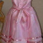 roupas de casamento infantil rosa costas