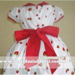 vestido bordado social infantil
