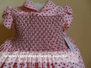 vestido social infantil marrom e rosa