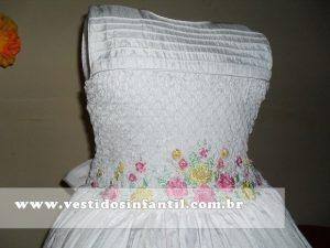 vestidos social infantil branco