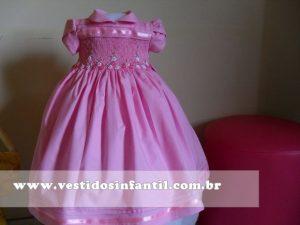 vestidos social infantil rosa