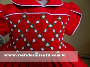 vestidos social infantil vermelho
