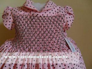 vestido rosa e marrom para festa de 1 ano