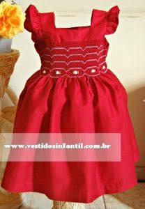 vestido infantil vermelho para aniversario de 1 ano