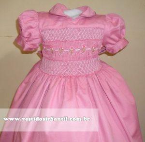 vestido rosa para aniversario de 1 ano