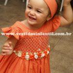 vestido infantil casinha de abelha