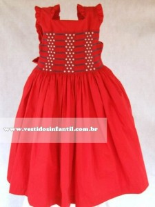 Vestido de Festa Infantil Vermelho