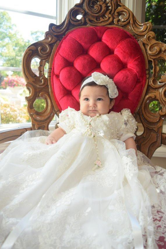 Vestido infantil para batizado