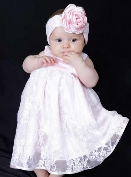 Vestido infantil de batizado