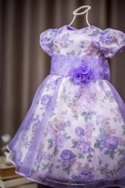 Vestido infantil para formatura