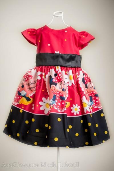 Vestidos de Festa da Minnie infantil