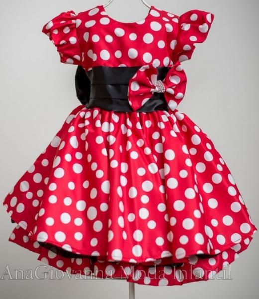 Vestido da Minnie para bebê