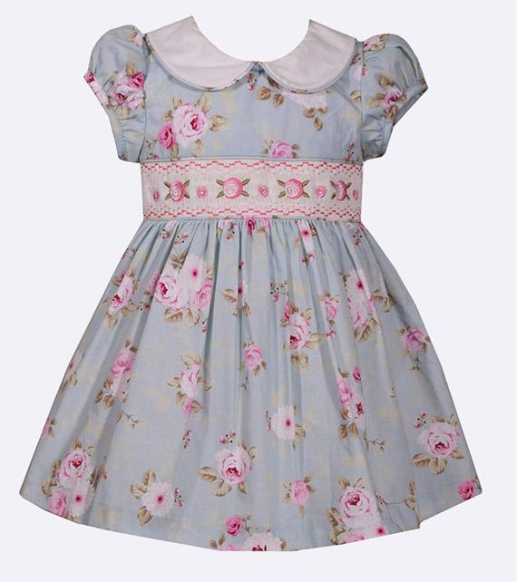 Vestido infantil de tecido