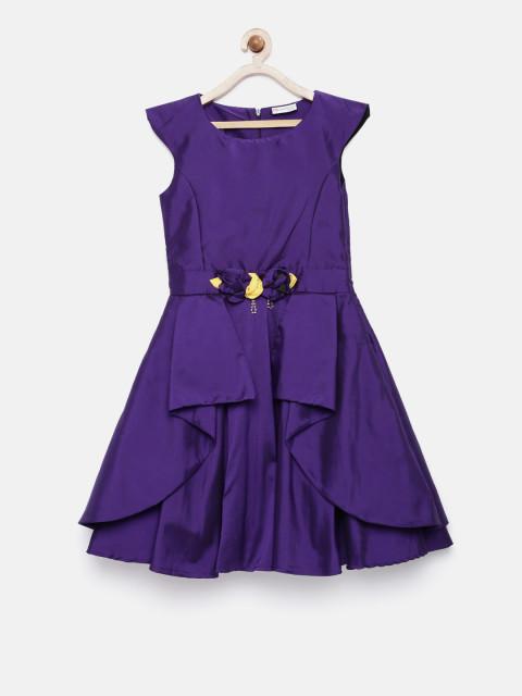Vestidos infantis ultra violet
