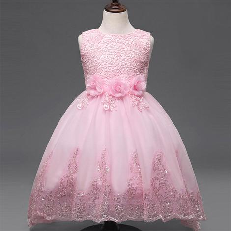 34 modelos de vestido infantil cor de rosa