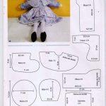 Molde de vestido de boneca