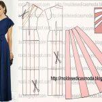 Molde de vestido longo